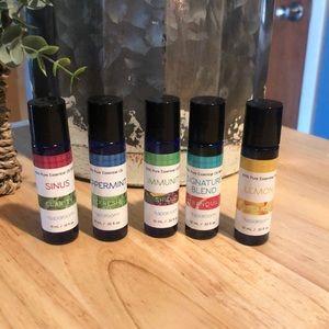 Set of 5 sparoom.33 oz essential oils new!